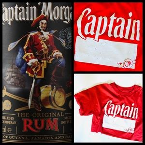 CROPPED CAPTAIN MORGAN T-SHIRT!
